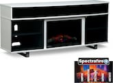"Entertainment Furniture-Abruzzo 72"" Fireplace TV Stand with Sound Bar"
