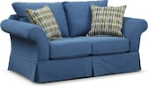 Living Room Furniture-Biscayne Blue Loveseat