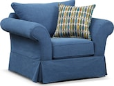 Living Room Furniture-Biscayne Blue Chair