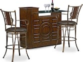 Dining Room Furniture-Hammett Heath 3 Pc. Bar Set