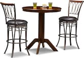Dining Room Furniture-Welch Lambert 3 Pc. Bar-Height Dinette
