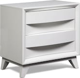 Bedroom Furniture-Atwater White Nightstand