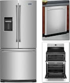 Cooking Products - Maytag 3 Pc. Appliance Package<br>Model YMET8720DS/MFW2055D