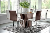 Dining Room Furniture-The Hartley Merlot Collection-Hartley Merlot Table