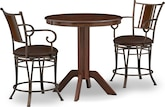 Dining Room Furniture-Welch Heath 3 Pc. Counter-Height Dinette