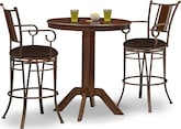 Dining Room Furniture-Welch Heath 3 Pc. Bar-Height Dinette
