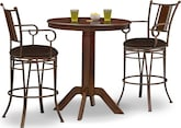 Dining Room Furniture-The Welch Heath Collection-Welch Heath 3 Pc. Bar-Height Dinette
