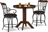 Dining Room Furniture-Welch Porter 3 Pc. Counter-Height Dinette