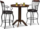 Dining Room Furniture-Welch Porter 3 Pc. Bar-Height Dinette