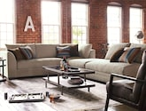 Living Room Furniture-The Burke Collection-Burke 4 Pc. Sectional