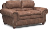 Living Room Furniture-Spokane Almond Loveseat