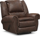 Living Room Furniture-Spokane Espresso Recliner