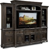 Entertainment Furniture-The Glenridge Collection-Glenridge 4 Pc. Entertainment Wall Unit