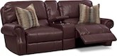 Living Room Furniture-Delahunt 3 Pc. Power Reclining Sofa with Console