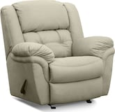 Living Room Furniture-Benton Beige Glider Recliner