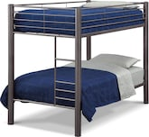 Kids Furniture-Brody Pewter Twin Bunk Bed