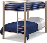 Kids Furniture-Brody Mocha Twin Bunk Bed