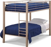 Kids Furniture-The Brody Mocha Collection-Brody Mocha Twin Bunk Bed