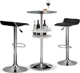 Dining Room Furniture-The Carlo Benitez Collection-Carlo Benitez Black 3 Pc. Bar Set