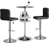 Dining Room Furniture-Carlo Stroud 3 Pc. Bar Set