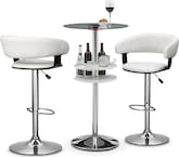 Dining Room Furniture-Carlo Janney 3 Pc. Bar Set
