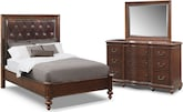 Bedroom Furniture-Broderick 5 Pc. Queen Bedroom