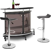 Dining Room Furniture-Boyd Benitez Black 3 Pc. Bar Set