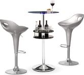 Dining Room Furniture-Carlo II Percy 3 Pc. Bar Set
