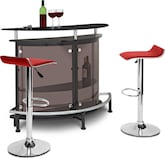 Dining Room Furniture-Boyd Benitez Red 3 Pc. Bar Set