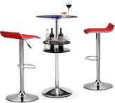Dining Room Furniture-Carlo II Benitez Red 3 Pc. Bar Set