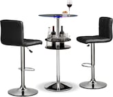 Dining Room Furniture-Carlo II Stroud 3 Pc. Bar Set