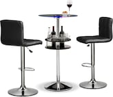 Dining Room Furniture-The Carlo II Stroud Collection-Carlo II Lighted Bar Table