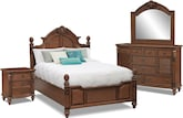 Bedroom Furniture-Clearwater 6 Pc. Queen Bedroom