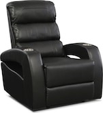 Living Room Furniture-Paramount Black Power Recliner
