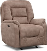 Living Room Furniture-Clarksdale Power Glider Recliner