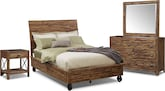 Bedroom Furniture-Andover 6 Pc. King Bedroom