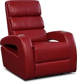 Living Room Furniture-Paramount Red Power Recliner