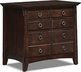 Home Office Furniture-Wentworth Dark Lateral File Cabinet