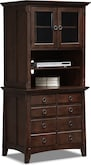 Home Office Furniture-Wentworth Dark Lateral File Cabinet with Door Hutch
