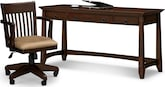 Home Office Furniture-Wentworth Dark Desk and Chair