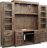 Entertainment Furniture-Hutchinson 4 Pc. Entertainment Wall Unit