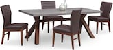 Dining Room Furniture-Driscoll Brown 5 Pc. Dining Room