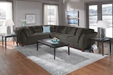 Living Room Furniture-The Brookside II Gray Collection-Brookside II Gray 2 Pc. Sectional