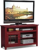 "Entertainment Furniture-Kittery Red 54"" TV Stand"