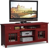 "Entertainment Furniture-Kittery Red 74"" TV Stand"