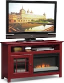 "Entertainment Furniture-Kittery Red 54"" Fireplace TV Stand"