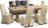 Dining Room Furniture-Clancy 6 Pc. Dining Room