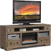"Entertainment Furniture-The Dalton Collection-Dalton 74"" Fireplace TV Stand"