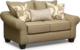 Living Room Furniture-Harlow Khaki Loveseat