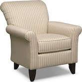 Living Room Furniture-Harlow Khaki Accent Chair